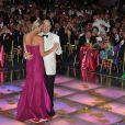 Albert de Monaco et Charlene lors du 63e gala de la Croix-Rouge monégasque, le vendredi 5 août 2011.