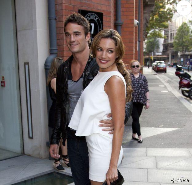 Kelly Brook et Thom Evans le 28 juillet, à Londres.
