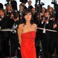 Mylène Jampanoï arrive à la projection de Kung-Fu Panda