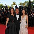 Dustin Hoffman, sa femme, et Lucy Liu