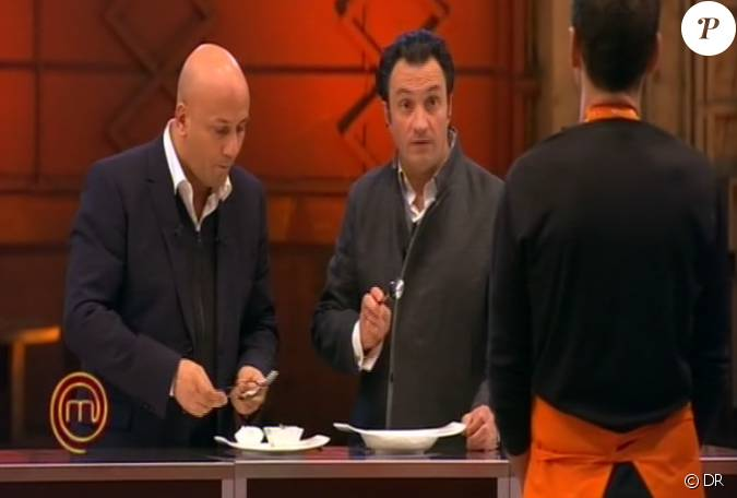 Yves camdeborde et fr d ric anton go tent dans masterchef 2 for Cuisinier yves camdeborde