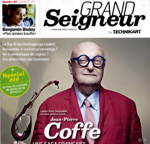 Jean-Pierre Coffe en couverture du magazine Grand Seigneur by Technikart de juin-août 2011