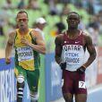 Oscar Pistorius, amputé des deux jambes, a participé aux championnats du monde d'athlétisme de Daegu en Corée du Sud sur 400m le 28 août 2011