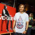 David Guetta fête la sortie de  Nothing but the beat  et de son documentaire sur Hollywood boulevard, à Los Angeles, le 30 août 2011.