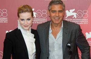 George Clooney frime à Venise, devant la superbe Evan Rachel Wood