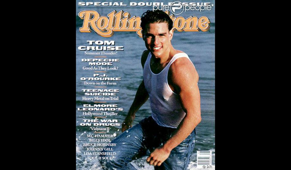 t shirt mouill et muscles saillants tom cruise pose pour rolling stone en juillet 1990. Black Bedroom Furniture Sets. Home Design Ideas