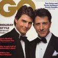 Tom Cruise et Dustin Hoffman posent ensemble pour GQ. Décembre 1988.