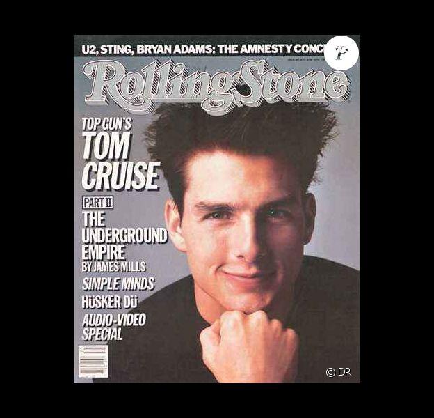 L'acteur Tom Cruise révélé par Risky Business et Top Gun, pose en couv' de Rolling Stone. 19 juin 1986.