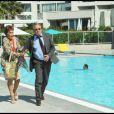 Yves Rénier et Pascale Roberts sur le tournage du prime time de Plus Belle La Vie, diffusé sur France 3.