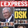 Dominique Strauss-Kahn et Tristane Banon en couverture de  L'Express , semaine su 6 au 12 juillet 2011.