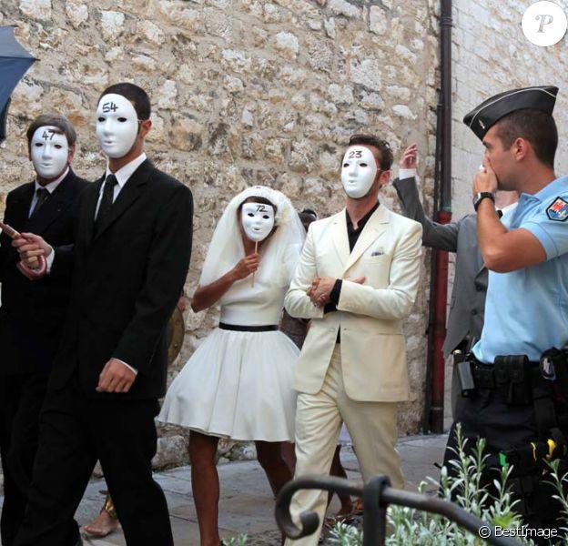 Emma de Caunes et Jamie Hewlett se sont dit oui à Saint-Paul-de-Vence, le 10 septembre 2011.