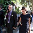 Antoine de Caunes et son épouse Daphné Roulier à Saint-Paul-de-Vence, le 10 septembre 2011.