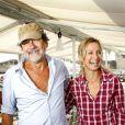 Olivier Marchal et sa femme Catherine à La Rochelle, le 10 septembre 2011.
