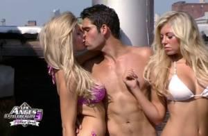 Les Anges de la télé-réalité 3: Kevin embrasse Annaëlle et Stéphanie, en bikini
