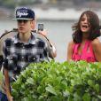 Justin Bieber et sa chérie Selena Gomez à Rio de Janeiro le 4 octobre 2011