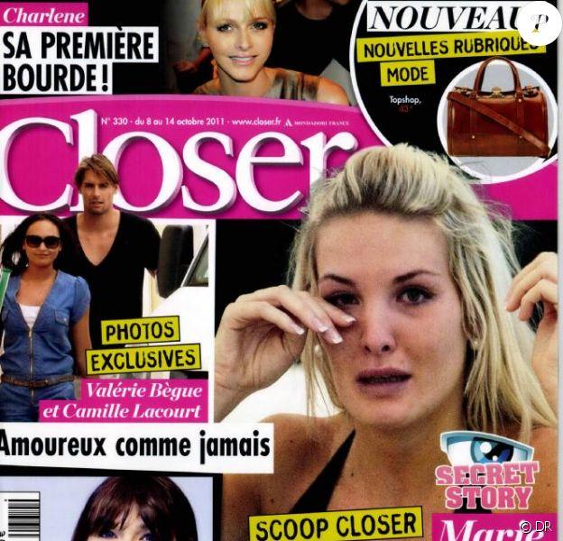 Closer en kiosques le 8 octobre 2011