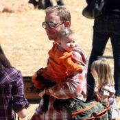 Ian Ziering et son adorable petite Mia à la pêche... aux citrouilles