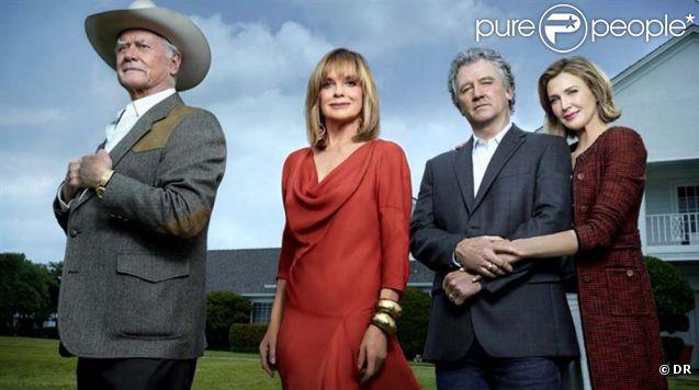 Larry Hagman, Patrick Duffy et Linda Gray dans la nouvelle version de  Dallas  attendue en 2012 sur la chaîne TNT.