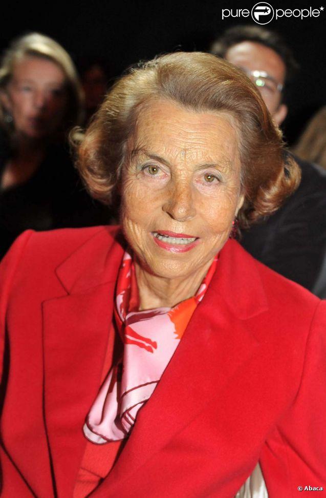 Liliane Bettencourt, à Paris, le 26 janvier 2011.