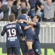 Le PSG lors du match opposant le PSG à Dijon (2-0) le 23 octobre 2011 au Parc des Princes à Paris