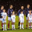 Zinedine Zidane, Tony Vairelles, Fabien barthez, Laurent Blanc et Christophe Dugarry le 4 novembre 2002 à Nîmes