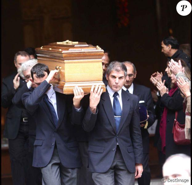 Obsèques de Roland Hubert, à Paris, le 18 octobre 2011.