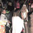 Lindsay Lohan fête Halloween au Forever Cemetary, à Los Angeles, le 31 octobre 2011.