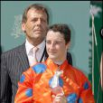 Christophe-Patrice Lemaire, le 14 juin 2009, à Chantilly, lors du Grand Prix de Diane.