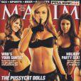 Carmen Electra reprend son poste au sein des Pussycat Dolls en couverture de Maxim. Décembre 2002.