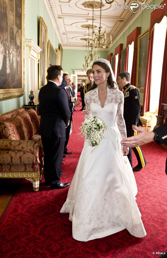 La robe de mariée de Kate Middleton, chef,d\u0027