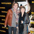 Jean-Luc Reichmann et Véronique Jannot lors de l'avant-première de Rhum Express, le 8 novembre 2011, à Paris.