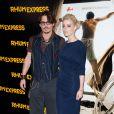 Johnny Depp et Amber Heard lors de l'avant-première de Rhum Express, le 8 novembre 2011, à Paris.