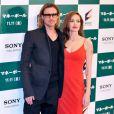 Brad Pitt et Angelina Jolie sublime à l'avant-première de Moneyball au Japon, à Tokyo, le 9 novembre 2011