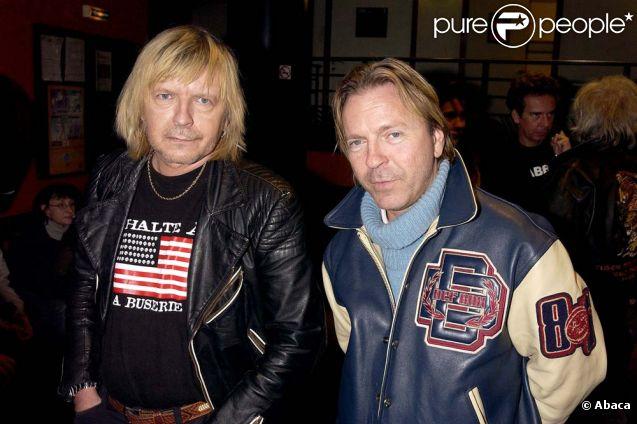 Renaud et son frère Thierry Séchan à Paris, le 18 févirer 2003.