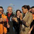 La princesse Stéphanie de Monaco a félicité les membres du gouvernement se prêtant à l'opération. Comme chaque année, elle donnait le 12 novembre 2011 sur le port Hercule le départ de la course caritative No Finish Line Race, une initiative originale qui se court sur huit jours au profit des enfants défavorisés.