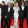 Mélanie Laurent, Quentin Tarantino, Christoph Waltz, Diane Kruger, Brad Pitt et Eli Roth le 20 mai 2009 à Cannes.