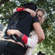 """""""Olivia Cattan, présidente de l'association Paroles de femmes  aux côtés de Tristane Banon, à Paris, le 24 septembre 2011. """""""
