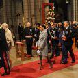 La famille Grimaldi lors de la messe donnée en Notre-Dame-Immaculée pour la fête nationale à Monaco. Il s'agit de la première pour Charlene en tant que princesse. Le 19 novembre 2011