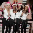 Lindsay Ellingson, Chanel Iman, Adriana Lima et Alessandra Ambrosio : les Anges de Victoria's Secret dévoilent leur cadeau préféré dans la boutique Victoria's Secret d'Herald Square à New York le 21 novembre 2011