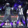 Les Black Eyed Peas, lors de leur concert à Londres au cours du Wireless Festival. Le 1er juillet 2011.