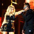 Fergie et Apl.de.ap, en concert au Sun Life Stadium de Miami, le dernier avant leur séparation. Le 23 novembre 2011.