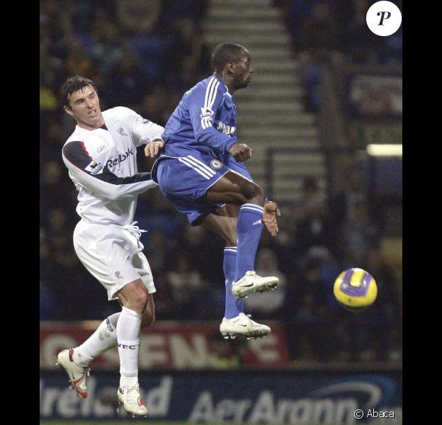 Gary Speed, en 2006, lors d'un match de Bolton contre Chelsea.