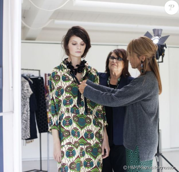 Visuels H&M représentant la collaboration du géant suédois et du label Marni, dont la collection sera en boutique le 8 mars 2012