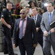 Randy Jackson arrive au tribunal pour connaître la sentence du Docteur Murray dans le procès de la mort de Michael Jackson, le 29 novembre 2011, à Los Angeles