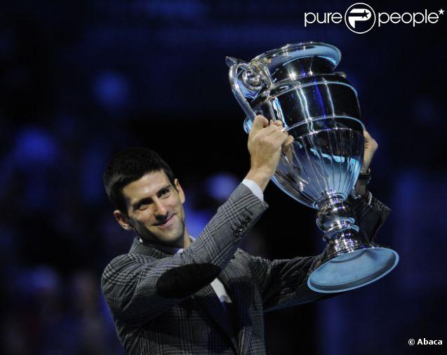 Novak Djokovic à Londres le 22 novembre 2011