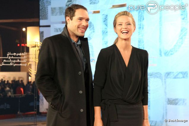 Nicolas Bedos et Virginie Efira lors du festival international du film de Marrakech le 9 décembre 2011