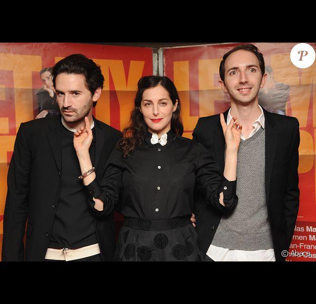 Nicolas Maury, Amira Casar et Mikael Buch lors de l'avant-première du film Let My People Go ! à Paris le 22 décembre 2011