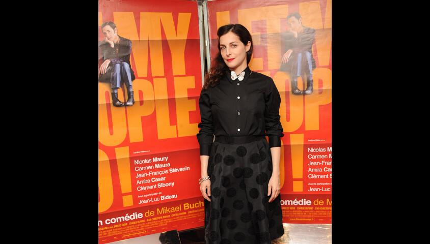 Amira Casar lors de l'avant-première du film Let My People Go ! à Paris le 22 décembre 2011