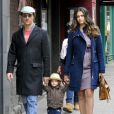 Matthew McConaughey et Camila Alves : promenade à New York en mars 2010 avec leur adorable petit Levi