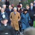 Les royaux britanniques au matin du 25 décembre 2011 à Sandringham (Norfolk).